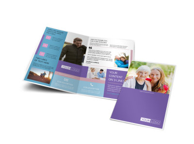 Health Insurance Company Bi-Fold Brochure Template