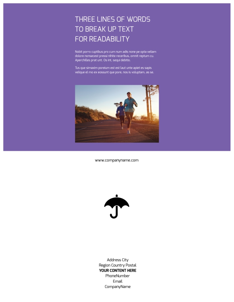 Health Insurance Flyer Template Preview 3