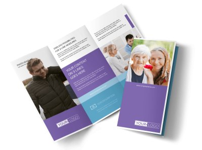 Health Insurance Company Tri Fold Brochure Template