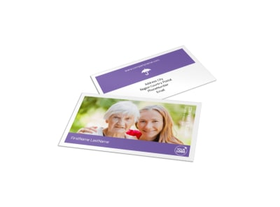Health Insurance Company Business Card Template preview