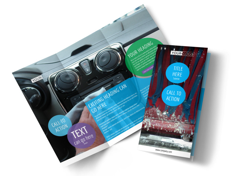 Wash & Detail Brochure Template Preview 4