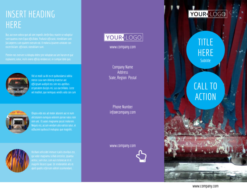 Wash & Detail Brochure Template Preview 2
