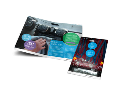 Wash & Detail Bi-Fold Brochure Template preview