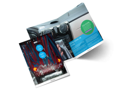 Wash & Detail Bi-Fold Brochure Template 2 preview