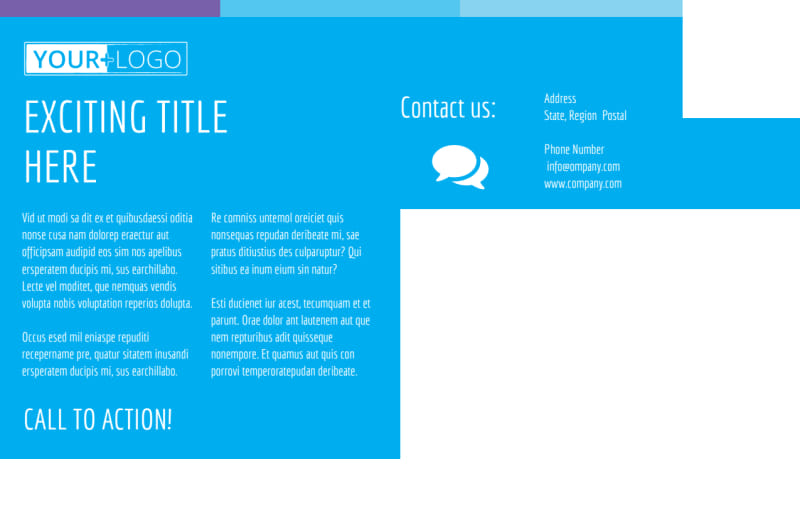 Wash & Detail Postcard Template Preview 3