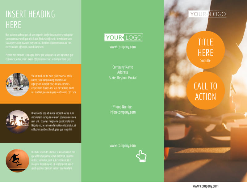 Long Board Class Brochure Template Preview 2
