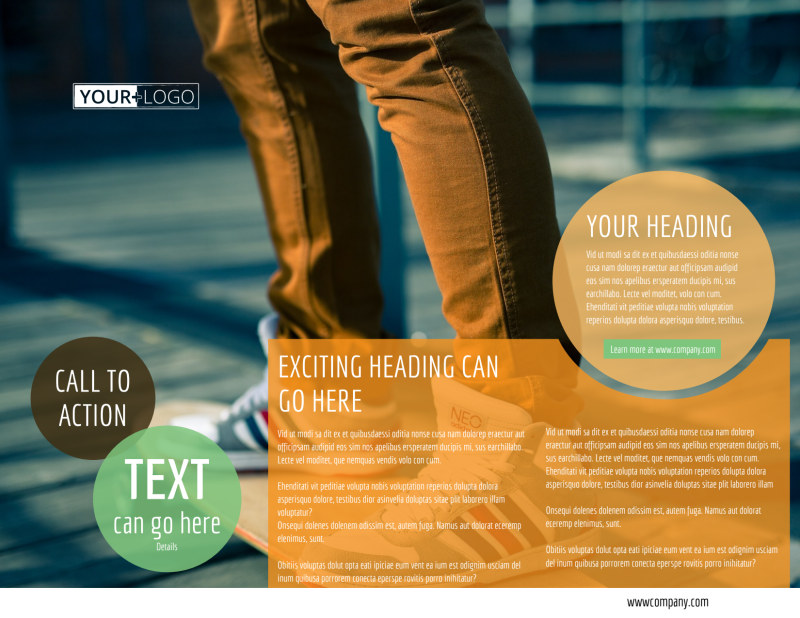 Long Board Class Brochure Template Preview 3