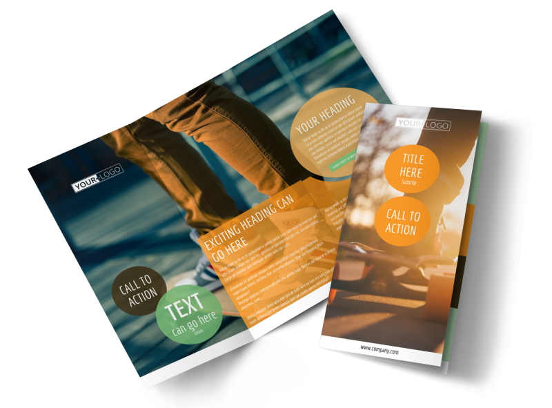 Long Board Class Brochure Template Preview 1