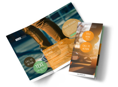 Long Board Class Tri-Fold Brochure Template