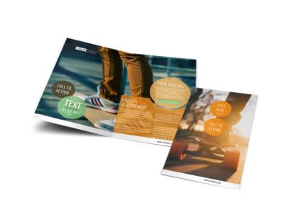 Long Board Class Bi-Fold Brochure Template preview
