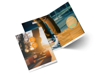 Long Board Class Bi-Fold Brochure Template 2