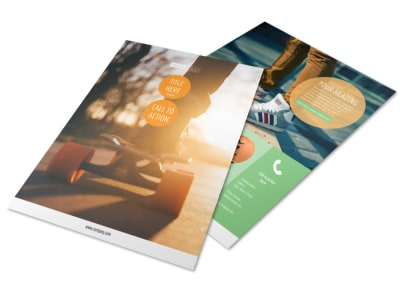 Long Board Class Flyer Template