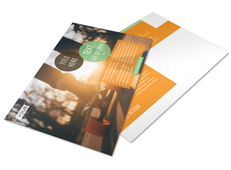 Long Board Class Postcard Template Preview 4