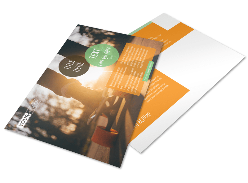 Long Board Class Postcard Template Preview 1