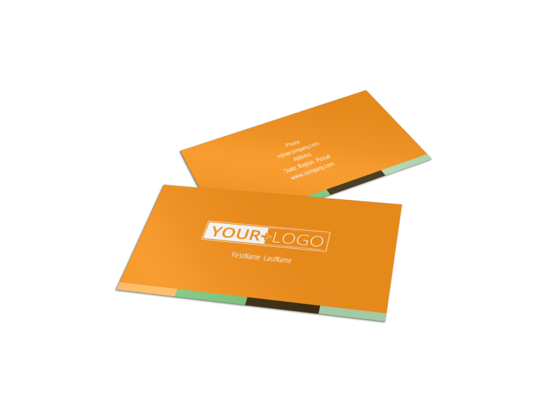Long Board Class Business Card Template Preview 1