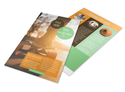 Long Board Class Flyer Template 3
