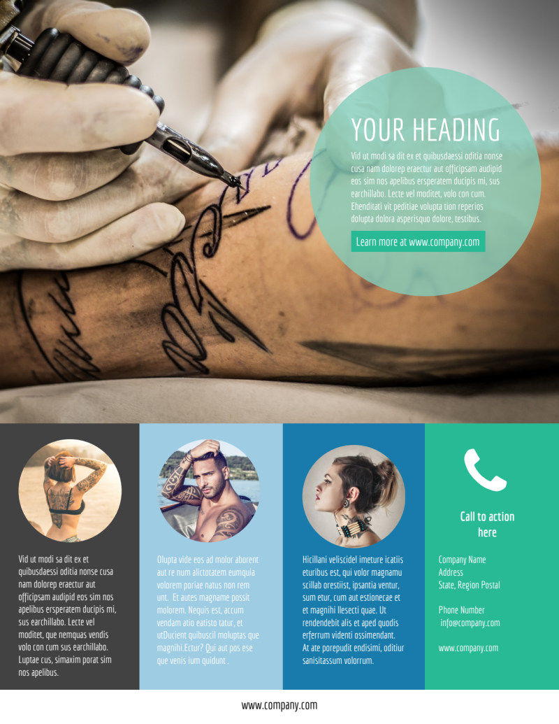 Tattoo & Body Piercing Flyer Template Preview 3