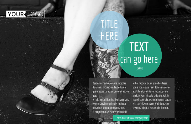 Tattoo & Body Piercing Postcard Template Preview 2