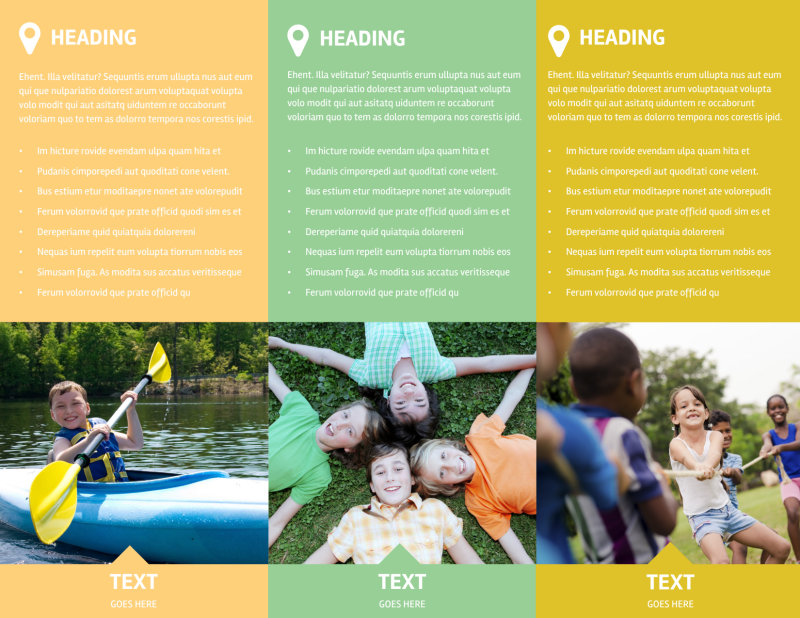 Youth Camp Brochure Template Preview 3