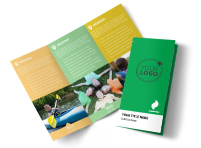 Youth Camp Tri-Fold Brochure Template preview