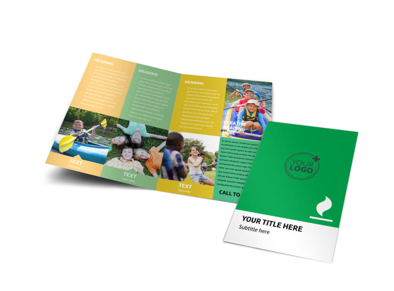 Youth Camp Bi-Fold Brochure Template