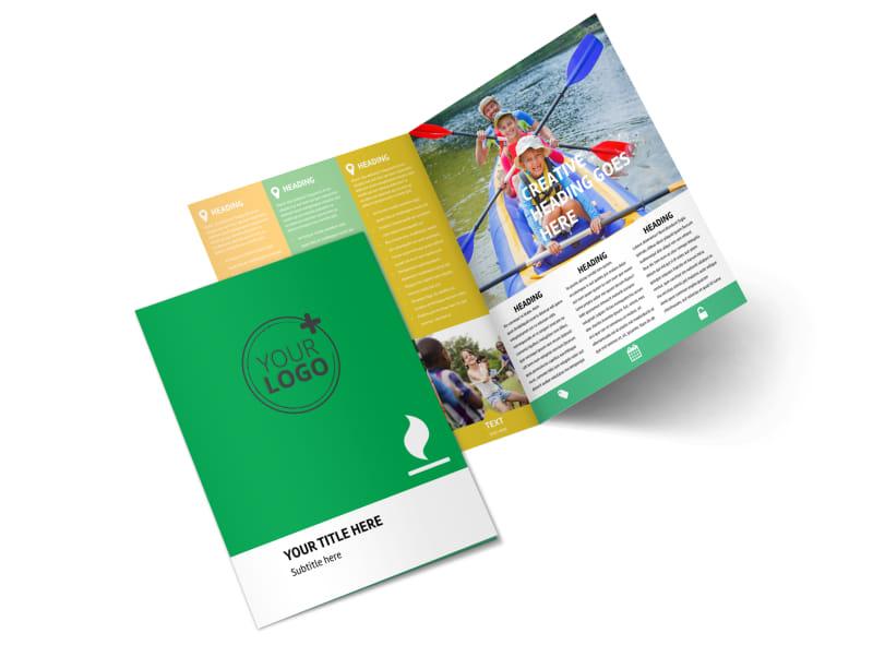Youth Camp Bi-Fold Brochure Template 2