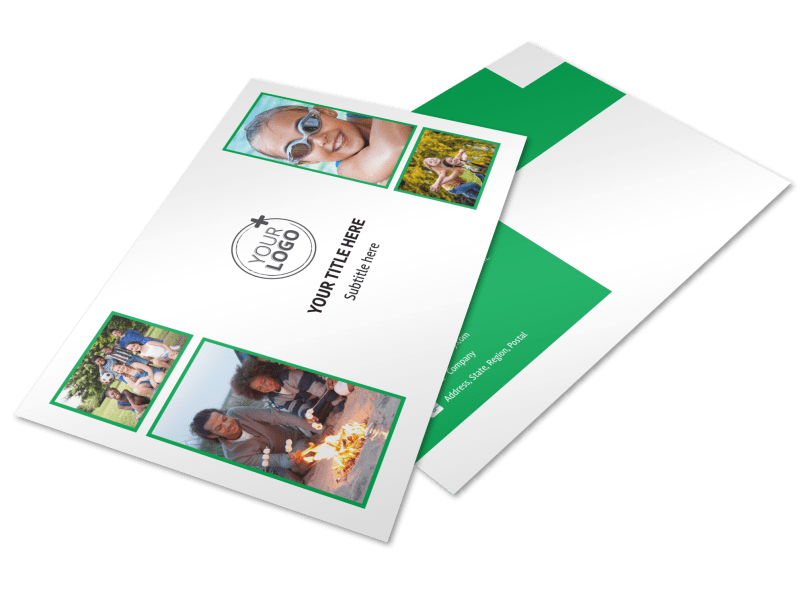 Youth Camp Postcard Template Preview 1