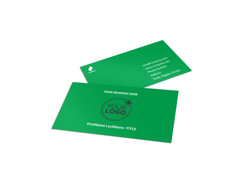 Youth Camp Business Card Template