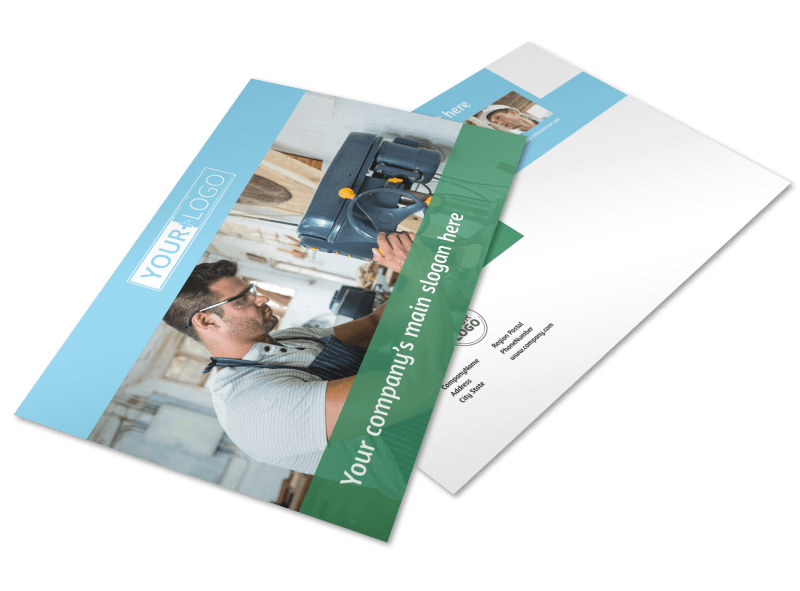 Occupational Health & Safety Postcard Template Preview 4