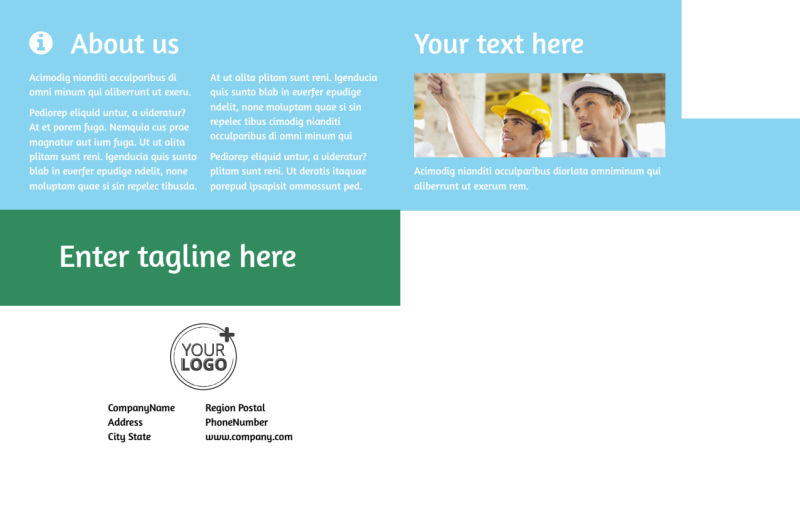 Occupational Health & Safety Postcard Template Preview 3