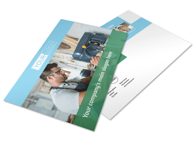 Occupational Health & Safety Postcard Template Preview 1