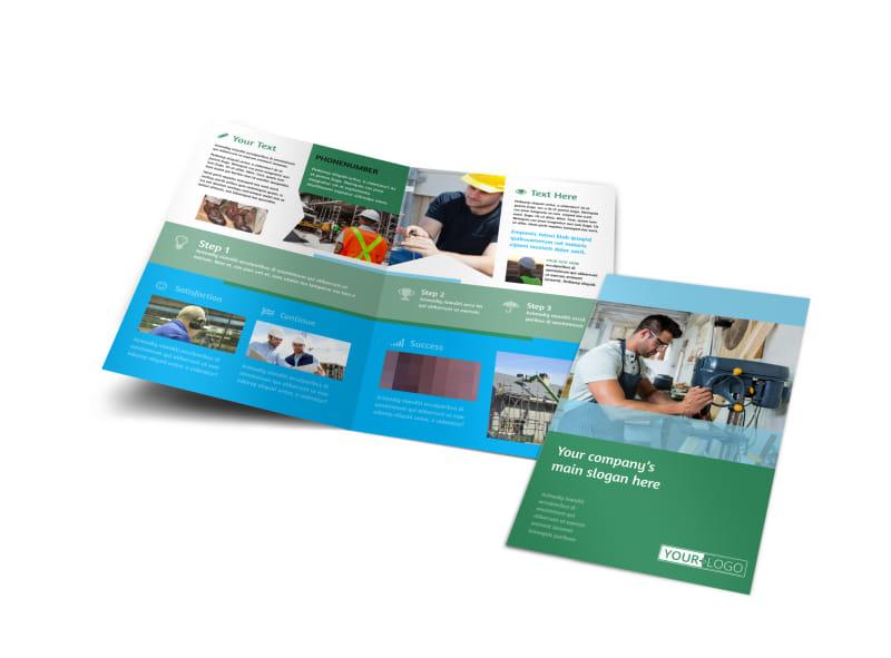occupational health safety bi fold brochure template. Black Bedroom Furniture Sets. Home Design Ideas