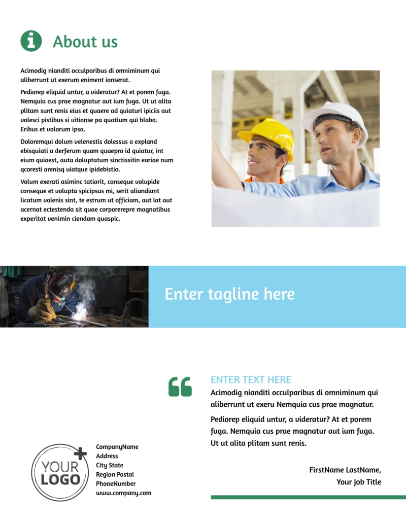 Occupational Health & Safety Flyer Template Preview 3