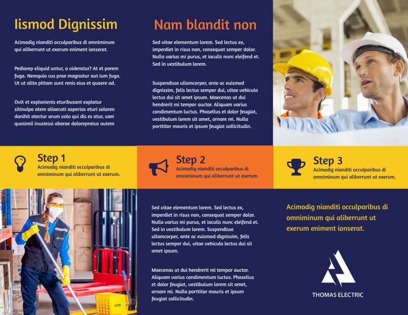 Occupational Health & Safety Brochure Template Preview 3