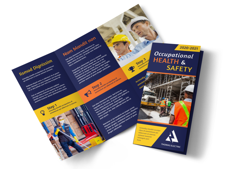 Occupational Health & Safety Brochure Template Preview 1