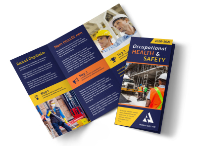 occupational health safety brochure template mycreativeshop