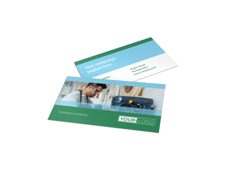 Occupational Health & Safety Business Card Template Preview 1