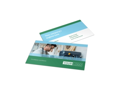 Occupational Health & Safety Business Card Template preview