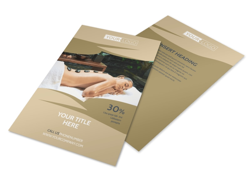 Day Spa & Resort Flyer Template 3