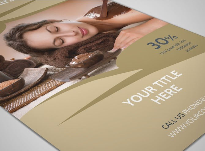 Day spa resort flyer template for 3 day spa retreat