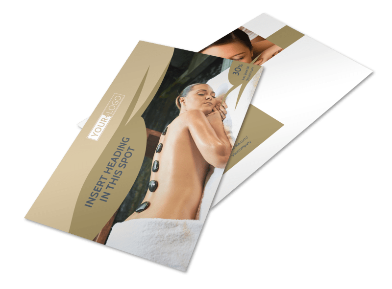 Day Spa Postcard Template Preview 1