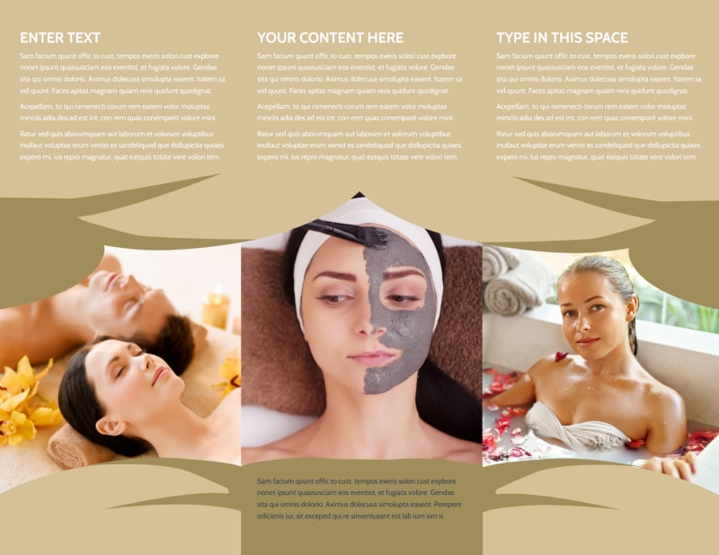 Day Spa Brochure Template Preview 3