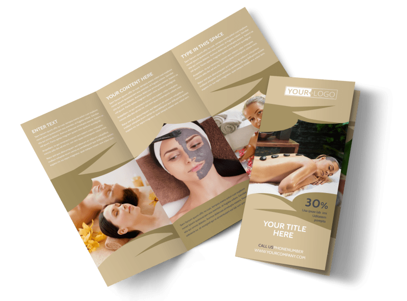 Day Spa Brochure Template Preview 1