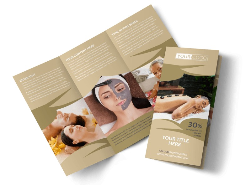Day Spa & Resort Tri-Fold Brochure Template