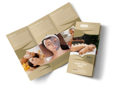 Day Spa & Resort Tri-Fold Brochure Template preview