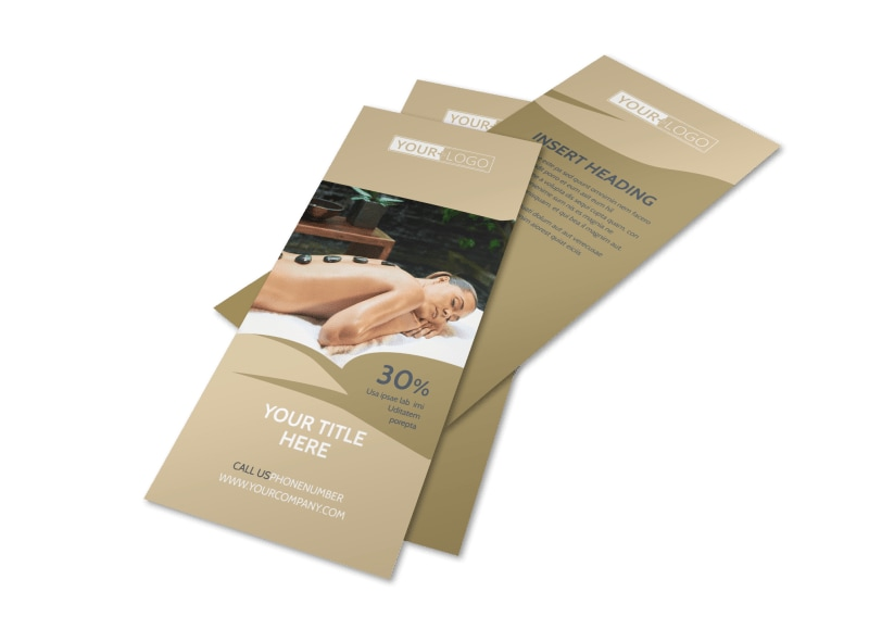 Day Spa & Resort Flyer Template 2