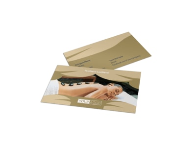 Day Spa & Resort Business Card Template