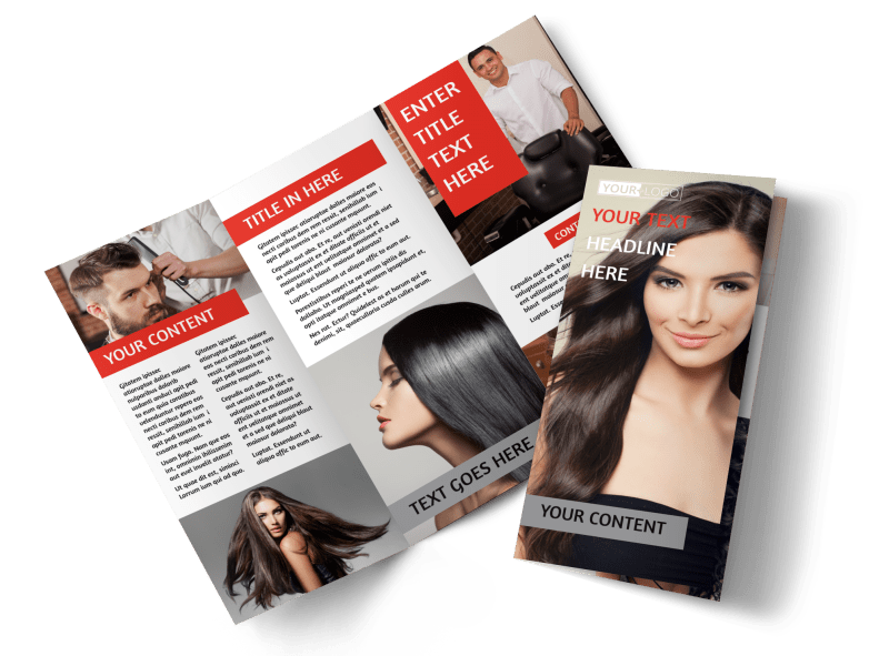 Hair Salon Brochure Template Preview 1