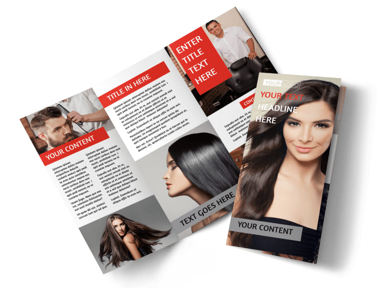 Hair Salon Brochure Template Preview 4