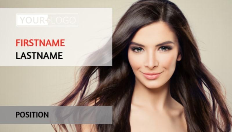 Hair Salon Business Card Template Preview 2
